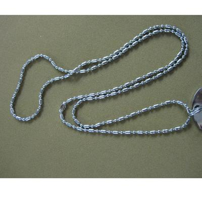 Beaded Chain Brass with Chrome Finish For Dog Tags 30-Inch