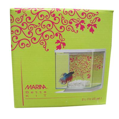 Marina Chartreuse and Fuchsia Betta Aquarium Kit