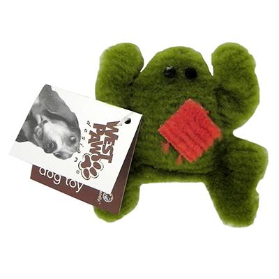 West Paw Doggy Froggy Plush Dog Toy