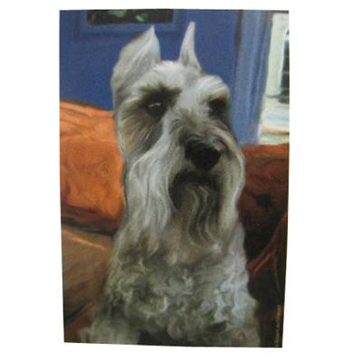 Robert McClintock Licensed Garden Flag Schnauzer