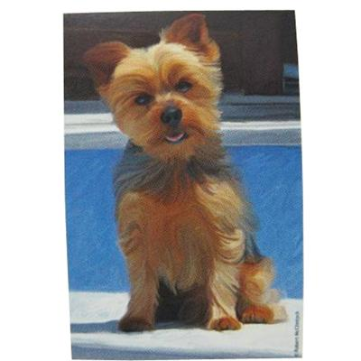 Robert McClintock Licensed Garden Flag Yorkie