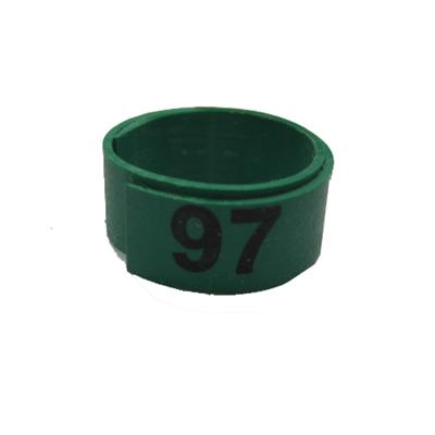 Poultry Numbered Leg Bandette Green Size 12 (single band)