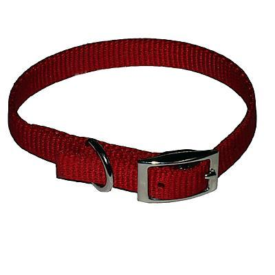 Nylon Dog Collar 5/8 inch Red 12-inch
