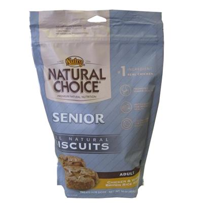 Nutro Natural Choice Senior Adult Dog Biscuits 16-oz.