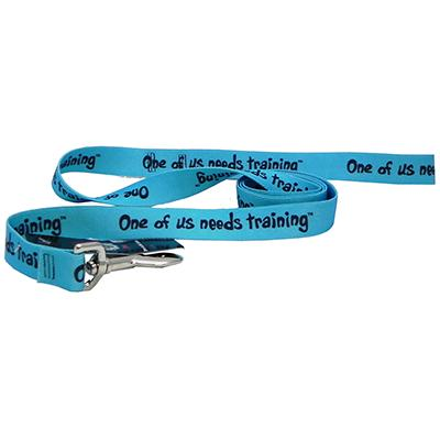 Printed Dog Leash 5-foot x 1inch One of us needs training