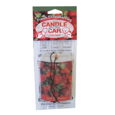 Candle For the Car Fresh Strawberries Pet Odor Eliminator