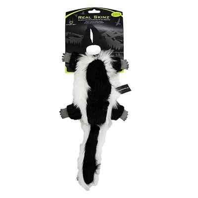 Hyper Pet Real Skinz Skunk Stuffing Free Dog Toy