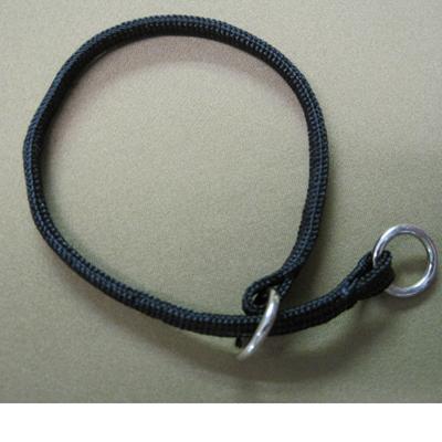 Nylon Dog Choke Black Collar 10