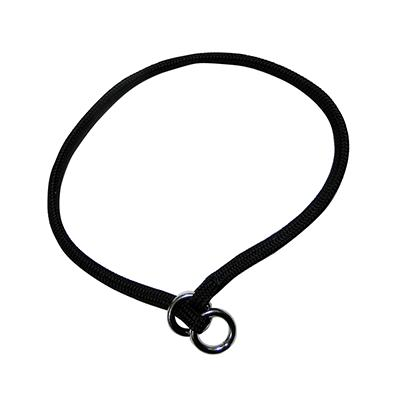 Nylon Dog Choke Black Collar 22