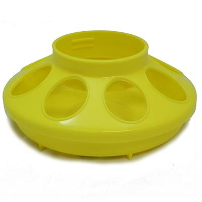 Plastic Mason Jar Baby Chick Feeder Base Yellow