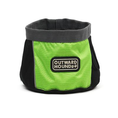 Outward Hound Green Port-A-Bowl 48 oz for Dog Water