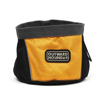 Outward Hound Orange Port-A-Bowl 48 oz for Dog Water