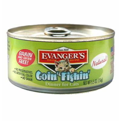 Evanger's Going Fishin Canned Cat Food 5.5-oz.