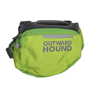 Outward Hound Medium Green Backpack for Dogs