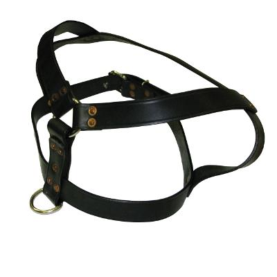The Harness Heavy Duty Leather Dog Harness 1.25 x 38-inch