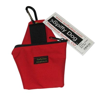 Spiffy Dog Pocket Treat Bag Treat Pouch Red