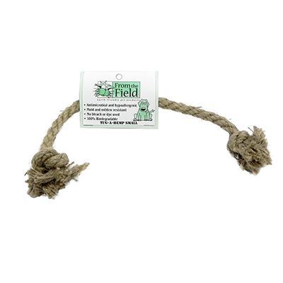 Tug-a-Hemp Small Natural Hemp Rope Bone Dog Toy