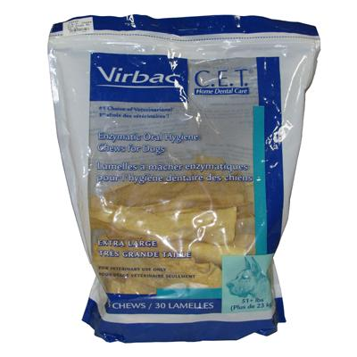 Virbac C.E.T. Dental Chews For Dogs XLarge 30 Count
