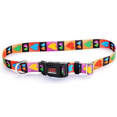 Tuff-Lock Medium Hearts Adjustable Nylon Dog Collar