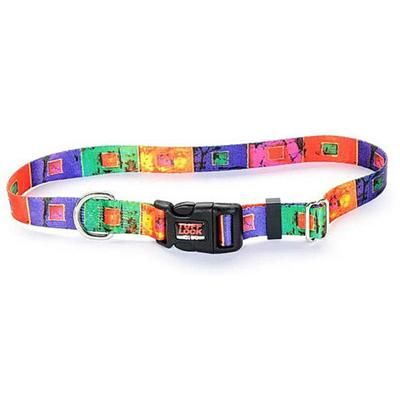 Tuff-Lock Medium Stained Glass Adjustable Nylon Dog Collar