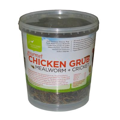 Gourmet Chicken Grub Mealworm Crickets Chicken Treat 14oz