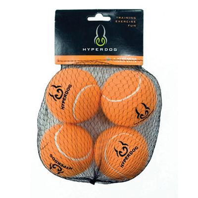Hyper Pet Orange Tennis Ball  Dog Toy 4 pack
