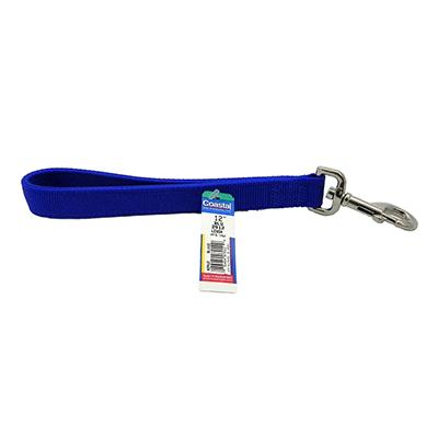 Nylon Dog Traffic Leash 1-inch x 1 foot Blue