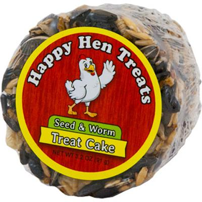 Happy Hen Seed and Worm Treat Cake for Chickens 3.2oz