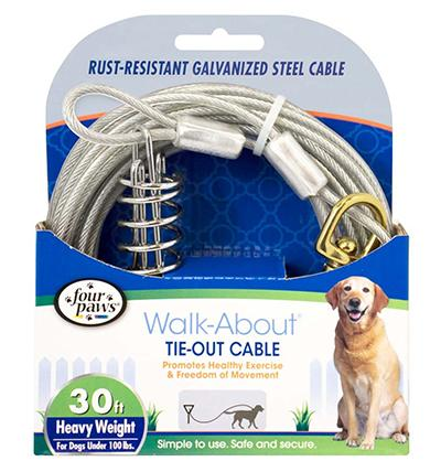 Heavy Weight Tie-Out Cable for Dogs 30-ft.