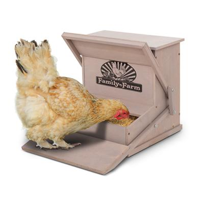 Precision Wood Treadle Chicken Feeder