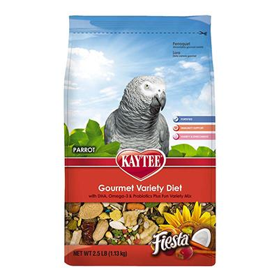 Kaytee Fiesta Parrot Bird Food 2.5 pound