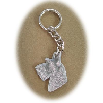 Pewter Key Chain I Love My Scottish Terrier