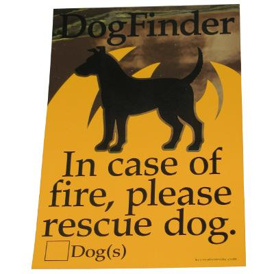 DogFinder In Case of Fire Please Rescue Dog Decal
