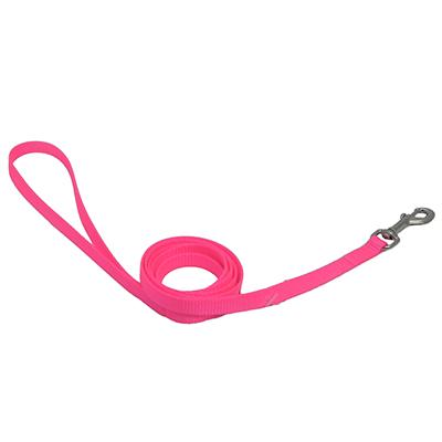 Nylon Dog Leash 3/8-inch x  4 foot Neon Pink