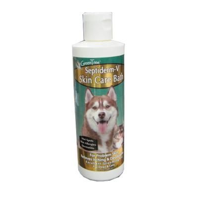 Septiderm Pet Antiseptic Skin Care V Bath 8 ounce