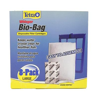 Whisper Aquarium Power Filter Bio-Bag 8 pack
