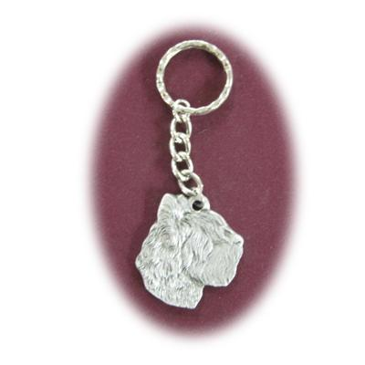 Pewter Key Chain I Love My Briard