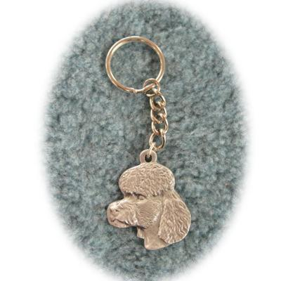 Pewter Key Chain I Love My Poodle