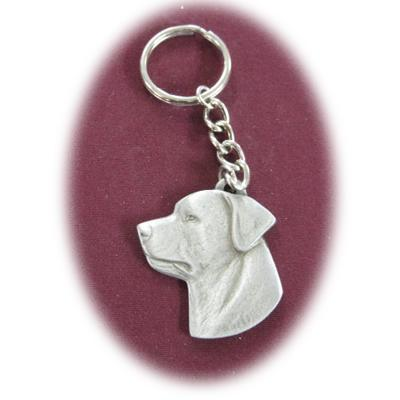Pewter Key Chain I Love My Rottweiler
