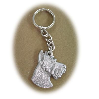 Pewter Key Chain I Love My Schnauzer