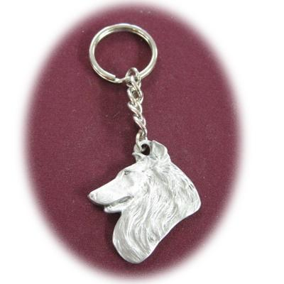 Pewter Key Chain I Love My Shetland Sheepdog