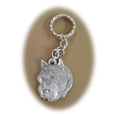 Pewter Key Chain I Love My Silky Terrier