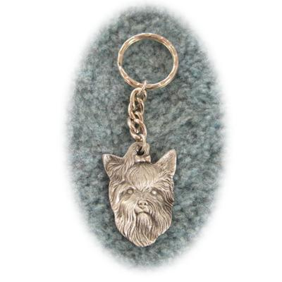 Pewter Key Chain I Love My Yorkshire Terrier