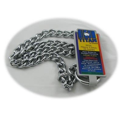 Coastal Titan Chrome Steel Dog Choke Chain Heavy 24 inch