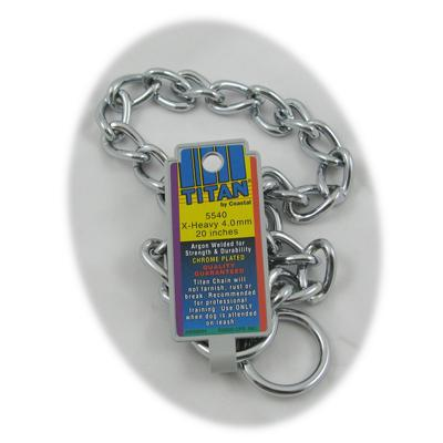 Coastal Titan Chrome Steel Dog Choke Chain XHeavy 20 inch