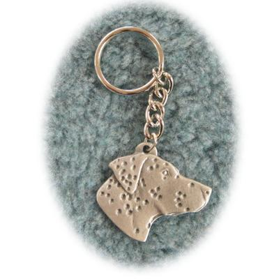 Pewter Key Chain I Love My Dalmatian
