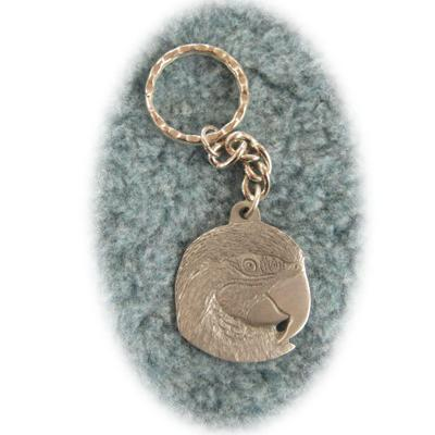 Pewter Key Chain I Love Macaws