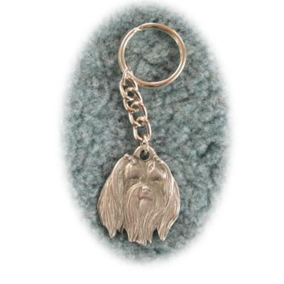 Pewter Key Chain I Love My Maltese