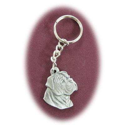 Pewter Key Chain I Love My Bull Mastiff