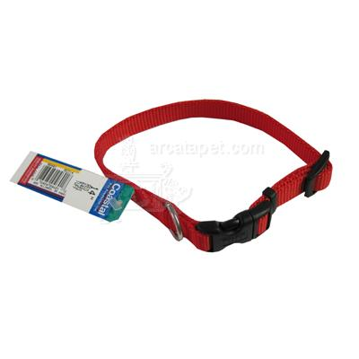 Nylon Dog Collar Adjustable 5/8-inch Red